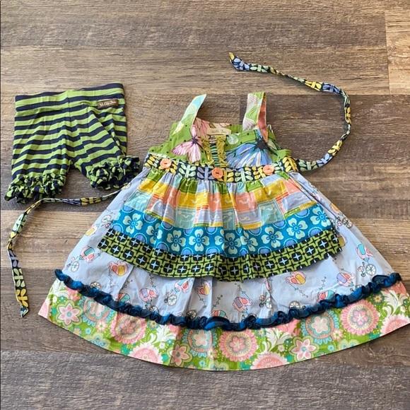 Matilda Jane Whimsical Elephant Apron Dress